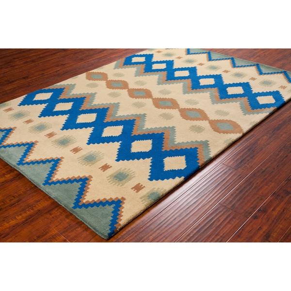 Handmade Allie Abstract Wool Rug (5' x 7'6)