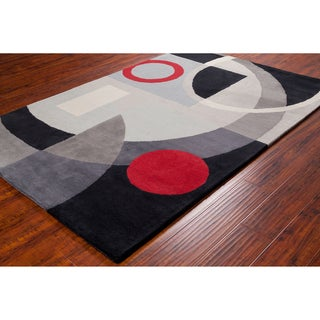 Allie Handmade Geometric Wool Rug (5' x 7'6)