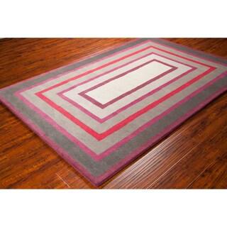 Allie Handmade Geometrc Wool Rug (5' x 7'6)