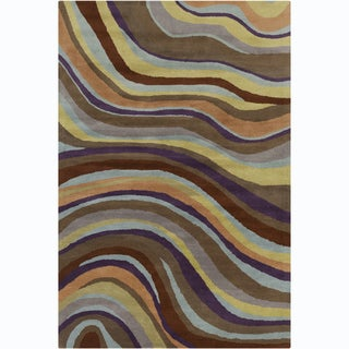 Allie Handmade Abstract Transitional Wool Rug (5' x 7'6)
