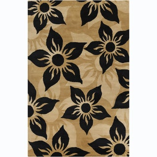 "Modern Allie Handmade Floral Wool Rug (5' x 7'6"")"