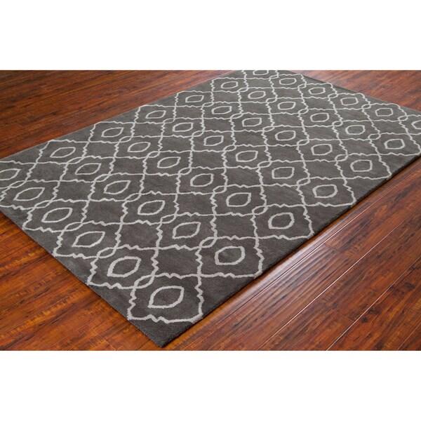 Allie Handmade Geometric Wool Rug (5' x 7'6)