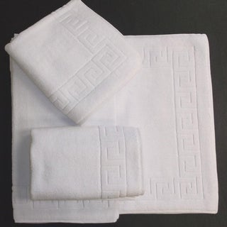 Salbakos Greek Key Pattern Bath Mat 3-pc Set