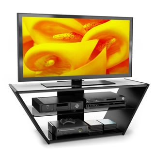 Sonax Venice 54-inch Midnight Black Glass TV Stand