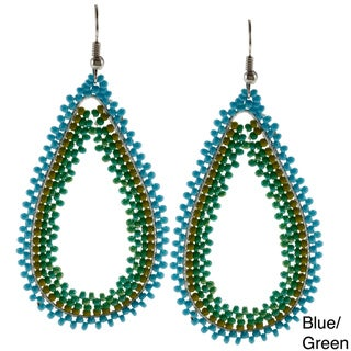 Beaded Tear Drop Hallow Earrings (South Africa)
