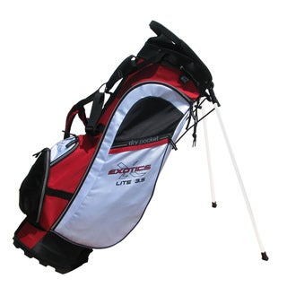 Tour Edge Red/ White/ Black Exotics Lite 3.5 Stand Bag