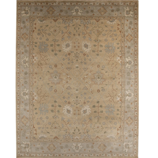 Hand-knotted Oriental Bright Gold Wool Area Rug (9' x 12')