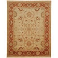 Hand-knotted Oriental Soft Gold Wool Area Rug (2' x 3')