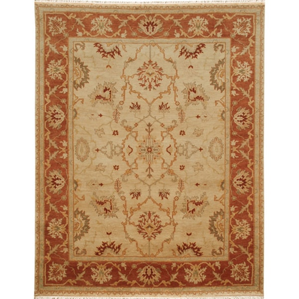 Hand-knotted Oriental Soft Gold Wool Area Rug (2' X 3