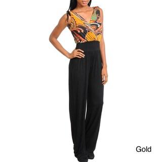 Stanzino Women's Paisley/ Black Jumpsuit