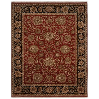 Hand-knotted Oriental Red Wool Area Rug (8' x 10')