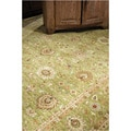 Hand-knotted Oriental Paradise Green Wool Area Rug (6&#39; x 9&#39;)