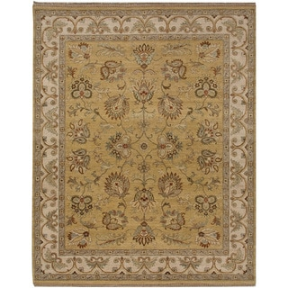 Hand-knotted Oriental Bright Gold Wool Area Rug (10' x 14')