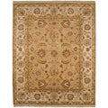 Hand-knotted Oriental Tan Wool Area Rug (8' x 10')
