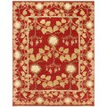 Hand-knotted Oriental Red Wool Area Rug (2' x 3')
