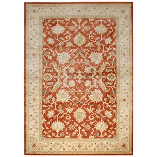 Hand-tufted Oriental Rust Wool Area Rug (9'6 x 13'6)