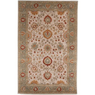 Hand-tufted Oriental Dark Ivory Wool Area Rug (9'6 x 13'6)