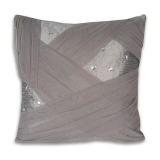 Marlo Lorenz Grey Organza Pillow