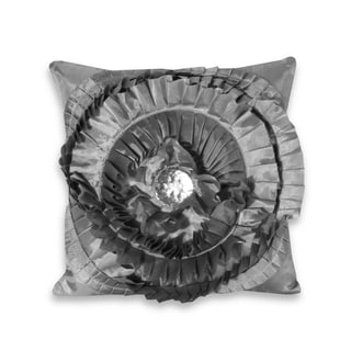 Marlo Lorenz Liana Grey Ruffle Pillow
