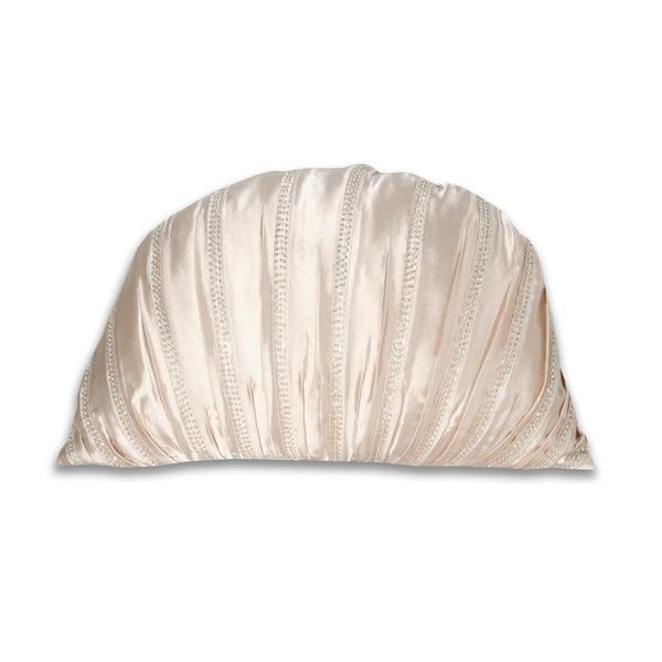 Marlo Lorenz Ivory Beaded Pillow