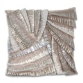 Marlo Lorenz Grey Pleated 16x16-inch Pillow