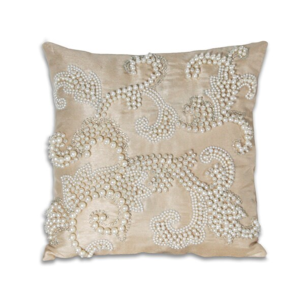 Marlo Lorenz Alaina Pearl Scroll 12x12-inch Pillow