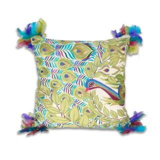 Marlo Lorenz Atria Peacock 18x18-inch Pillow