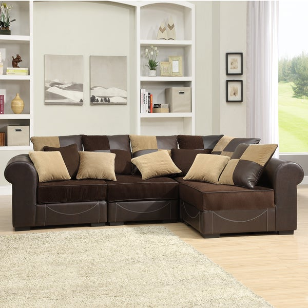 Alessandra Chocolate 4-piece Sectional Set