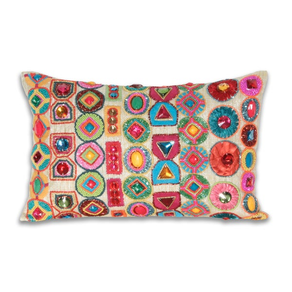 Marlo Lorenz Brigette Gemstone 10x16-inch Pillow
