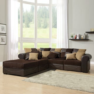 Alessandra Chocolate 5-piece Sectional Set