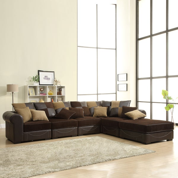 Alessandra Chocolate 6-piece Sectional Set