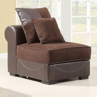 Alessandra Chocolate Armless Chair