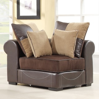 Alessandra Chocolate Corner Chair