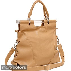 Dasein Tall Foldable Satchel Bag