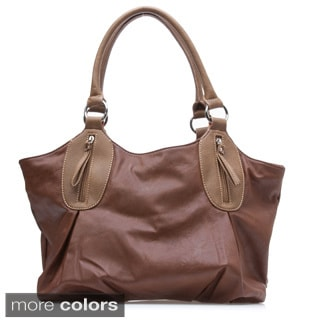 Dasein Slouchy Zip-pocket Shoulder Bag
