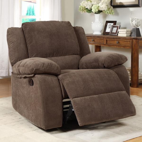 Arista Dark Olive Rocking Recliner Chair