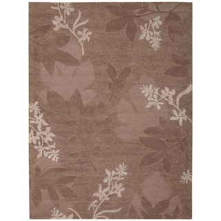 Nourison Hand-tufted Skyland Coco All Over Leaf Rug