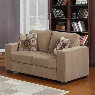Colette Brown Corduroy Loveseat