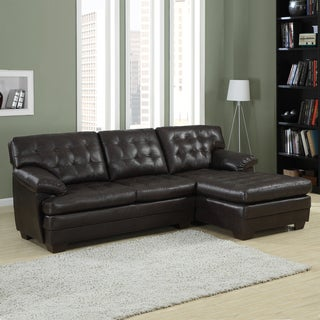 Delphine Dark Brown Bonded Leather Sectional