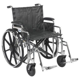 Sentra Extra Heavy-duty Wheelchair with Various Arm Styles and Front Rigging Options