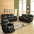 Eland Black Bonded Leather Sofa Set
