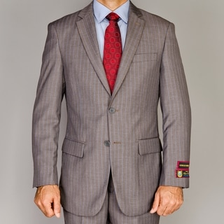 Men's Light Brown Pinstripe 2-button Suit
