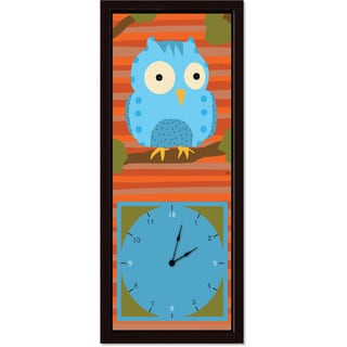 Ankan 'Blue Owl' Clock Art