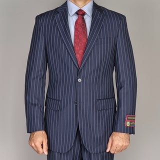 Giorgio Fiorelli Men's Navy Blue Pinstripe 2-button Suit