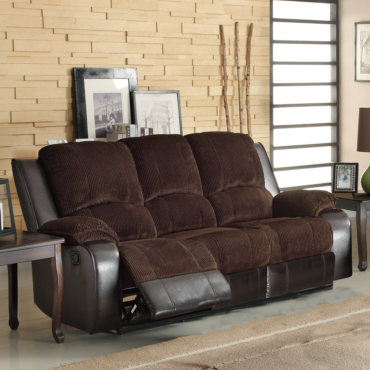AT HOME by O Arbor Corduroy Double Recliner Sofa at Sears.com