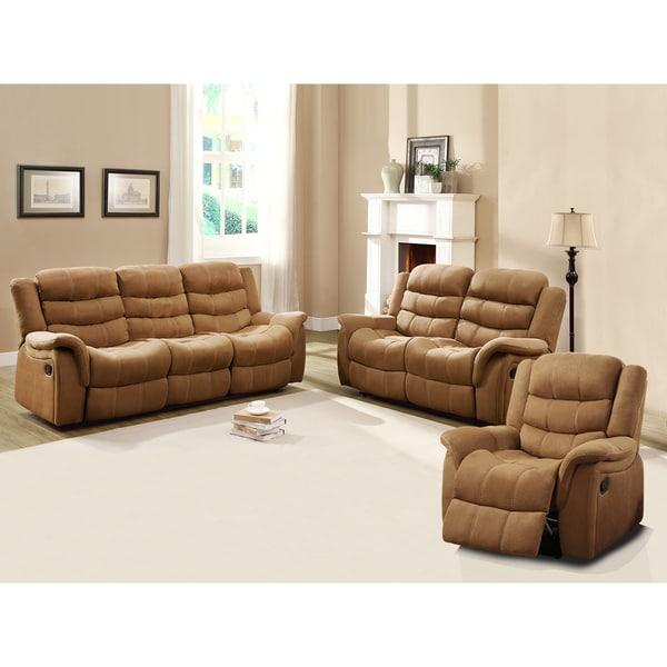 Jardin Brown Polyester Sofa Set