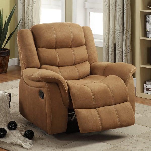 Jardin Brown Polyester Glider Recliner Chair