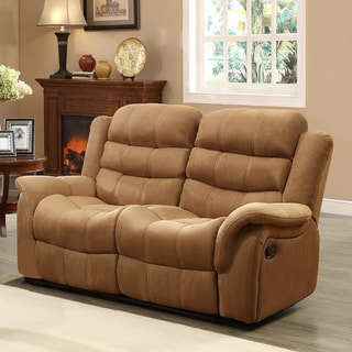 Jardin Brown Polyester Double Recliner Loveseat