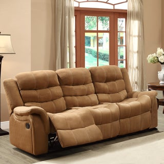 Jardin Brown Polyester Double Recliner Sofa