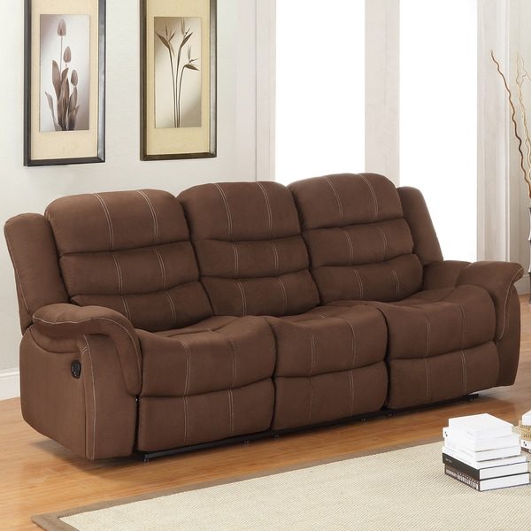 Jardin Chocolate Polyester Double Recliner Sofa